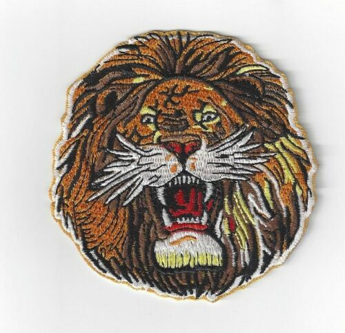 LION,S HEAD  IRON ON PATCH  BUY 2 GET 3 OF THESE