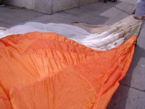 No Holes//Lines 28/' Diameter Orange//White//Tan//Green Circular Parachute Canopy
