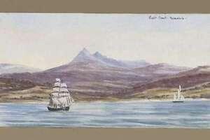 Tasmania EAST COAST circa 1884 H J Graham modern digital ART Postcard