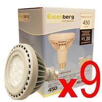 (lot Of 9) Energy Efficient Bulb Power Saver Led Light Bulbs 10w 45w 450lm 3000k