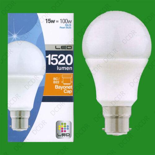LED Pearl GLS Light Bulb Standard Shape BC Bayonet Cap B22 Lamp 4x 15W =100W