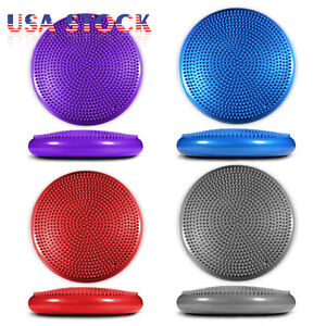 Yoga-Balance-Board-Disc-Gym-Stability-Air-Cushion-Wobble-Pad-Physio-w-Pump