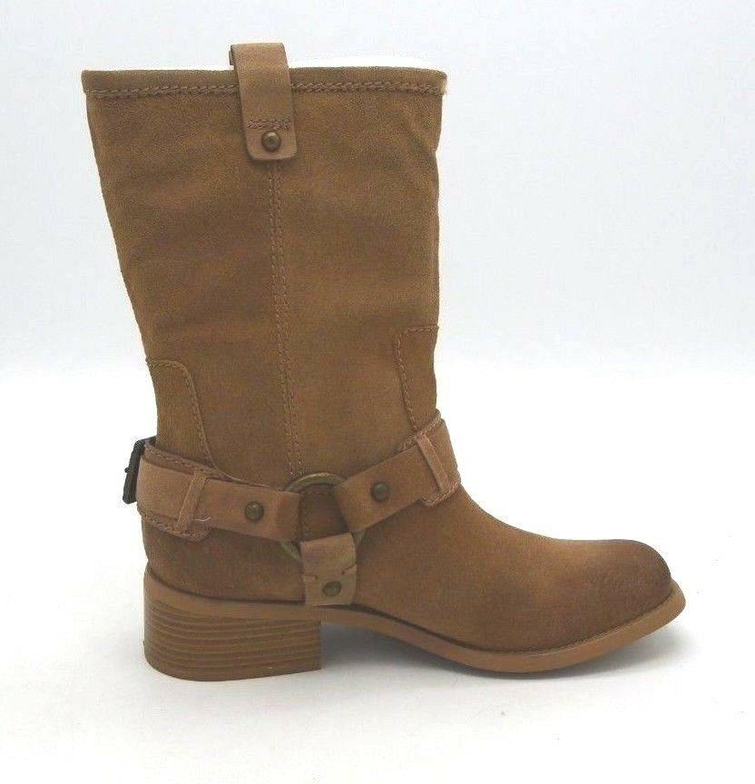 A5162 New Women's Jessica Simpson Inna Tan Yale Leather Boots US 8.5 M