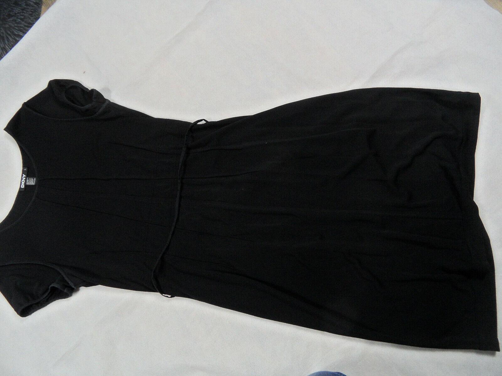 DKNY schönes Stretchkleid schwarz Gr. L TOP BB120