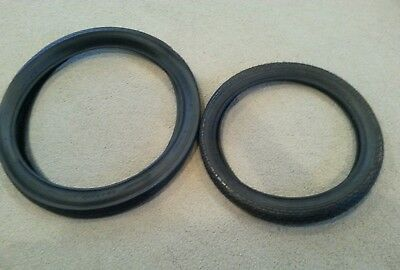TWO 47-305 BICYCLE TIRES,O.G BRICK PATTERN 2 DURO 16X1.75 BLACK