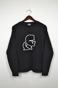 KARL-LAGERGELD-Designer-womens-sweatshirt-size-L-LARGE-black