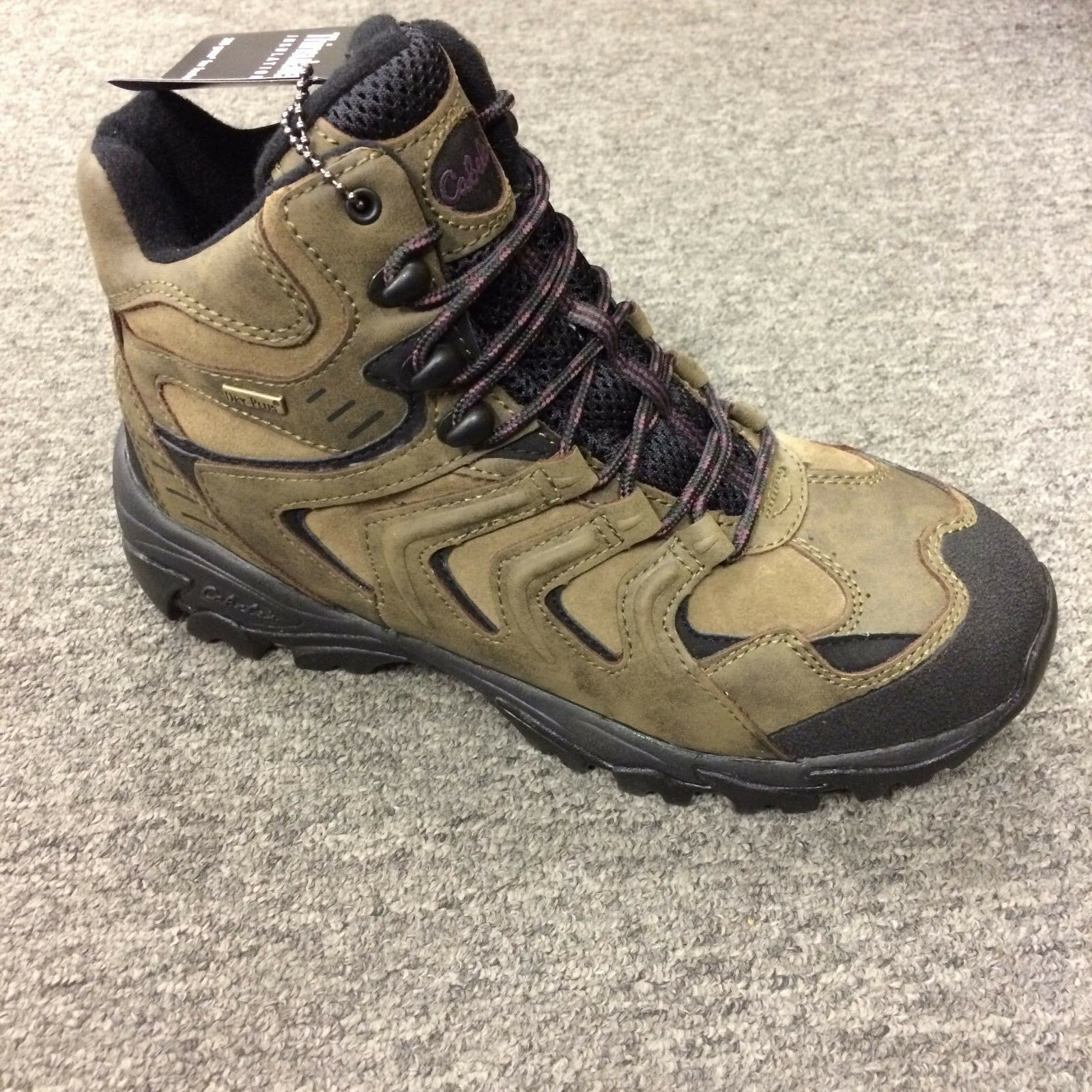 Cabelas Womens Winter Peak Pac Boots Olive Brown Size 9M 813630 NEW