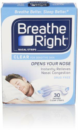 Breathe Right Nasal Tiras Pequeño Mediana Transparente 30 Cada
