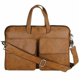 MG Star 16 Inch Leather Shoulder Sling Laptop Messenger Bag For Unisex