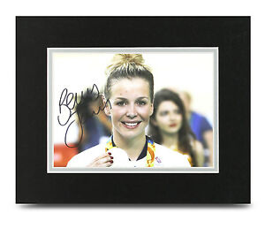 Becky-James-Signed-10x8-Photo-Display-Rio-Olympics-Memorabilia-Autograph-COA