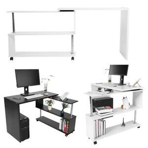 360 Drehbar Eck Tisch Computertisch Arbeitstisch Pc Schreibtisch