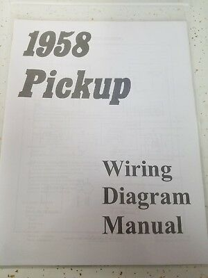 New 1958 Chevy Truck Wiring Diagram Manual *FREE SHIPPING ...