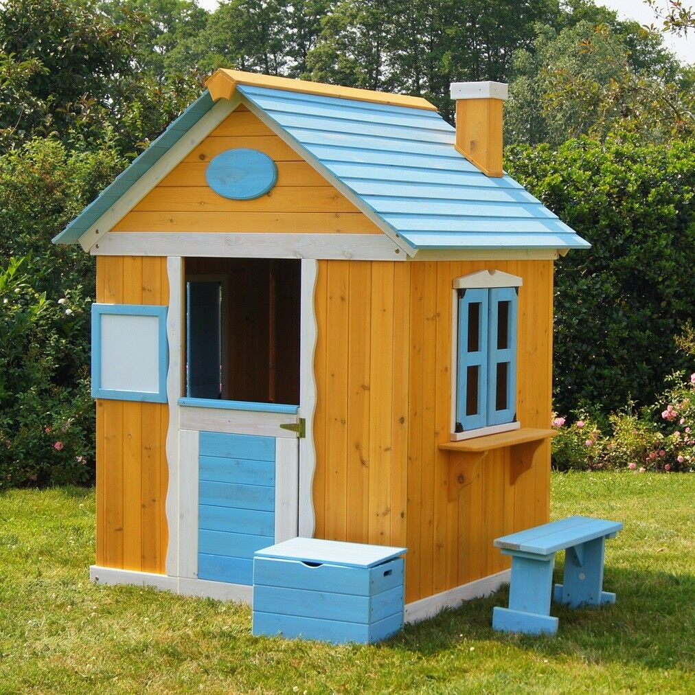 Kinderspielhaus Gartenhaus Spielhaus für Kinder aus Holz Kinderhaus