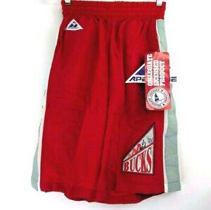 Vintage-Ohio-Estado-Universidad-Osu-Buckeyes-Baloncesto-Hombres-S-Shorts-Rojo