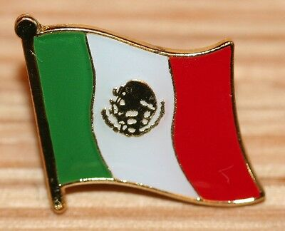 Mexico Mexican Country Flag Metal Lapel Pin Badge