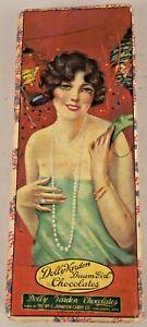 1920s Dolly Varden Vintage Art Deco Flapper Candy Box Dream Girl Chocolates