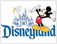 Disneyland Fridge Magnet. 4x5. Mickey Mouse, Tinkerbell......free Shipping
