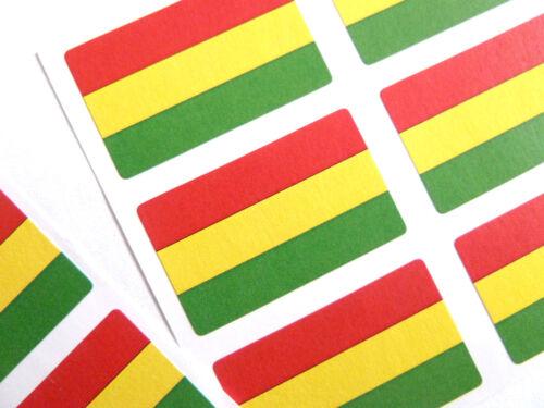 FR79 Mini Sticker Pack Self-Adhesive Bolivia Flag Labels
