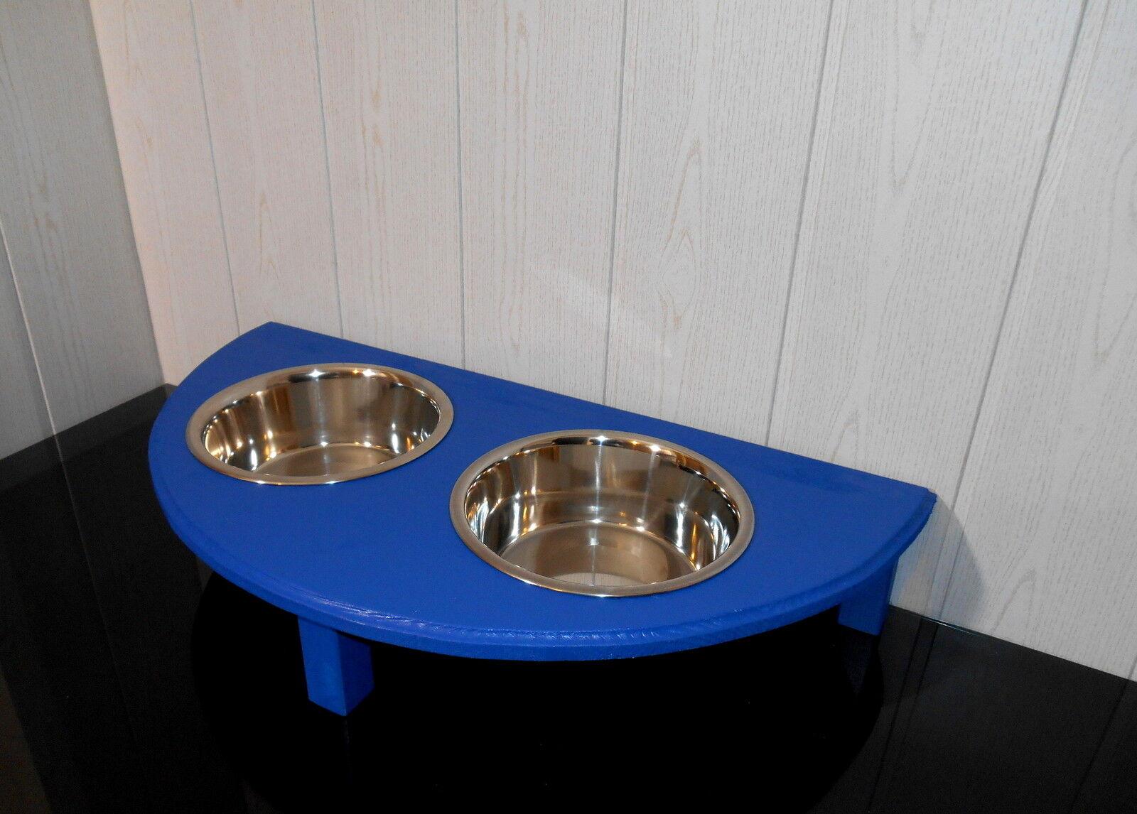 Futterbar mit 2 extra gr. Näpfen, blau, halbrund, Futterstation, Futterstation, Futterstation, Napfhalter (9)  | Elegante Und Stabile Verpackung  8fc509