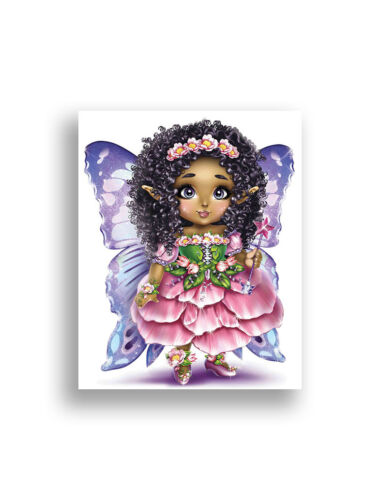 African American Girls Wall Art Fairy Princess Mermaid Unicorn Girl Wall Decor