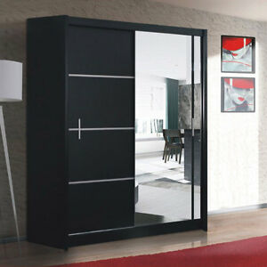 kleiderschrank schrank vista 150 cm schwebet renschrank schiebet r mit spiegel ebay. Black Bedroom Furniture Sets. Home Design Ideas