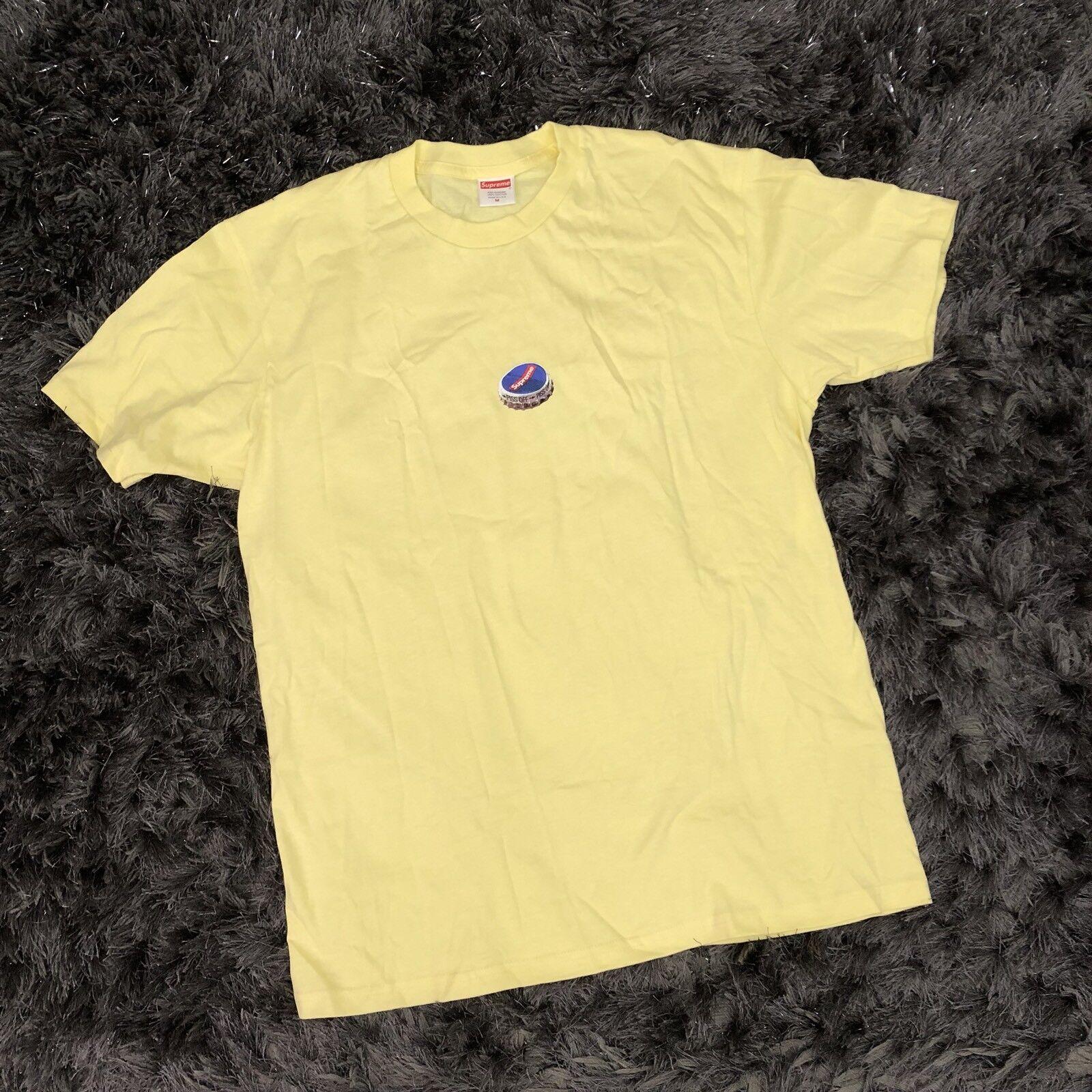 Supreme pale yellow bottle cap t shirt medium m