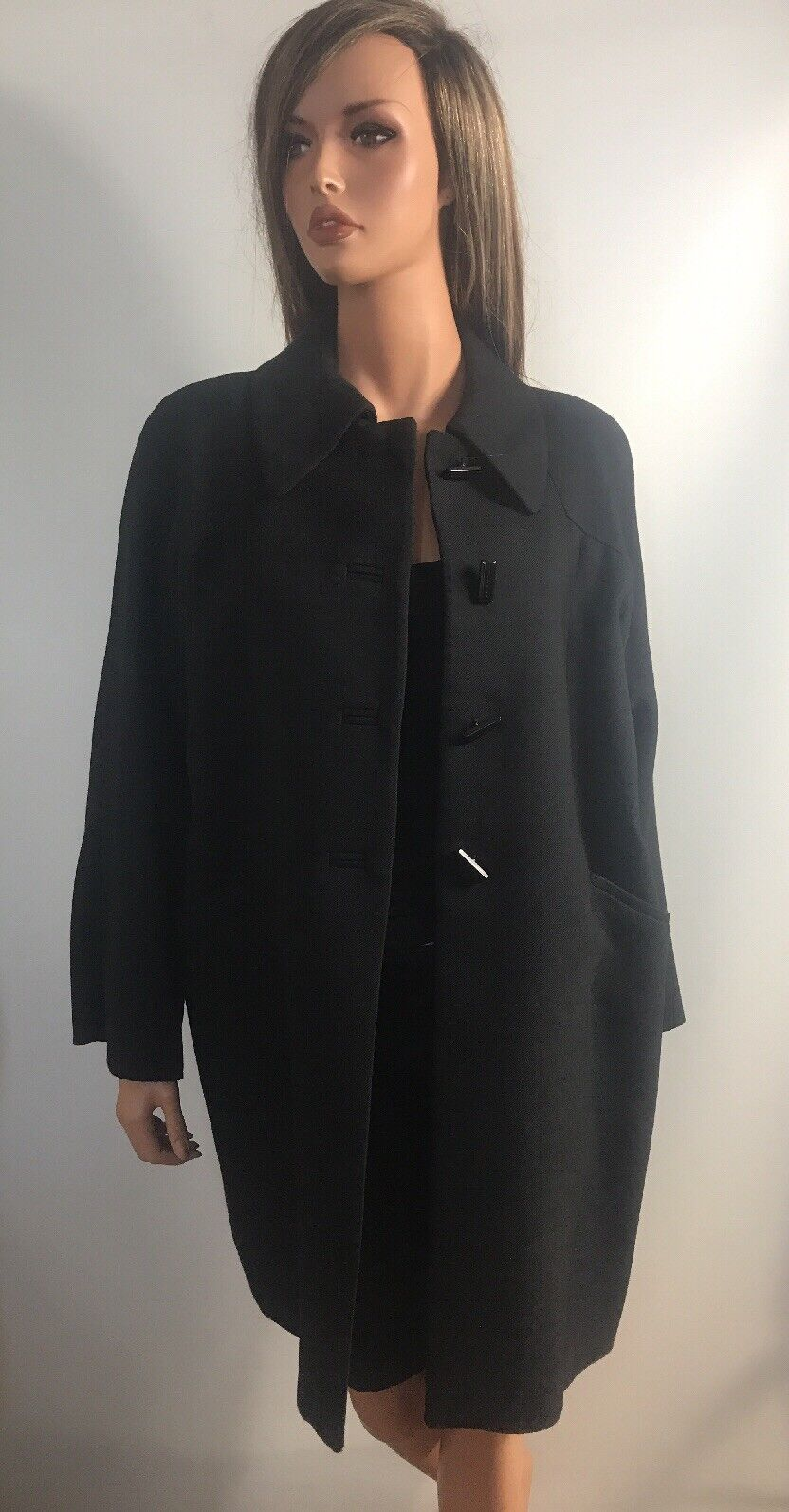 Zara kvinna 100% Wool Coat, Storlek L