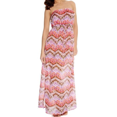Freya Swimwear Inferno Bandeau Maxi Dress Amber 3760 NEW Select Size