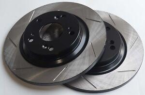 Fits-Acura-RSX-Slotted-Brake-Rotors-Rear-Pair