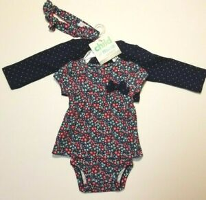 Size 0//3M NWT Baby Girl SuperGirl One Piece with Skirt 3//6M and 6//9M