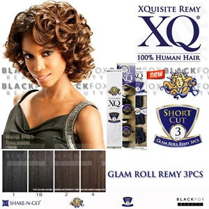 Glam Roll Remy 3pcs Xquisite Remy Short Cut 3pcs 100