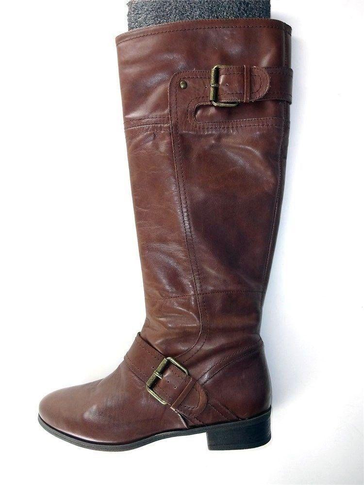 Nine West Para Mujer Mujer Mujer Vermillion botas de Montar Marrón Cuero Talla 5.5 M  Las ventas en línea ahorran un 70%.