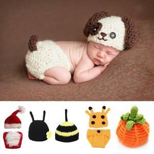 5c3c99e6f491 Image is loading Newborn-Baby-Animal-Costume-Set-Baby-Photo-Photography-