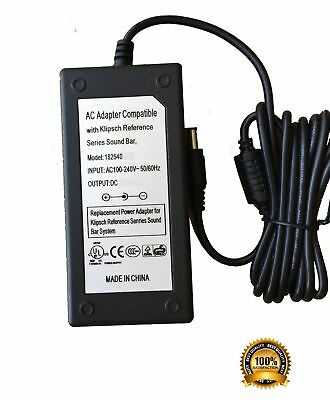 AC DC Adapter Charger For Klipsch R-4B Reference 2-Way Soundbar Power Supply