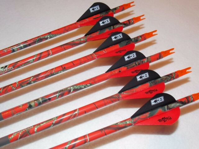 1/2 doz Gold Tip Expedition Hunter 5575/400 carbon custom arrow w/blazers!