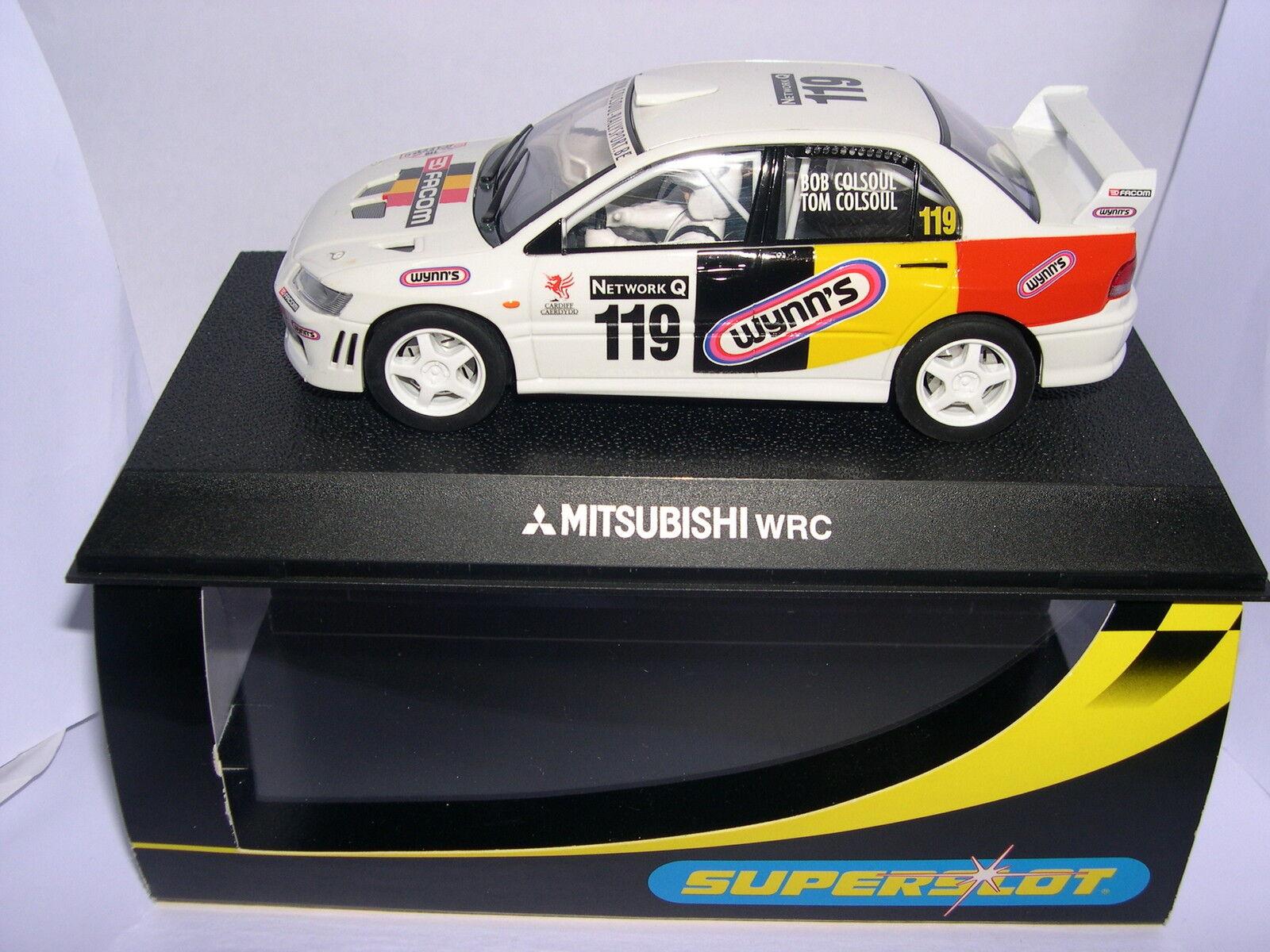SUPERSLOT H2495 MITSUBISHI LANCER WRC FACOM B.COLSOUL SCALEXTRIC UK MB