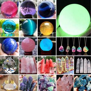 Natural-Quartz-Magic-Gemstone-Sphere-Crystal-Reiki-Healing-Ball-Stone-Gem-Lot