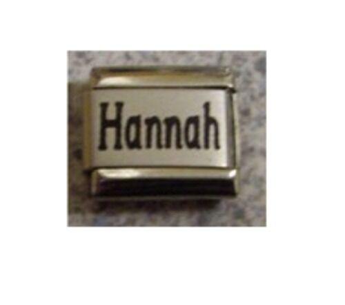 9mm tamaño clásico italiano encanto nombres-nombre Hannah