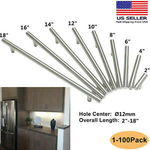Ø12mm Stainless Steel Kitchen Cabinet Handles T Bar Pulls ...