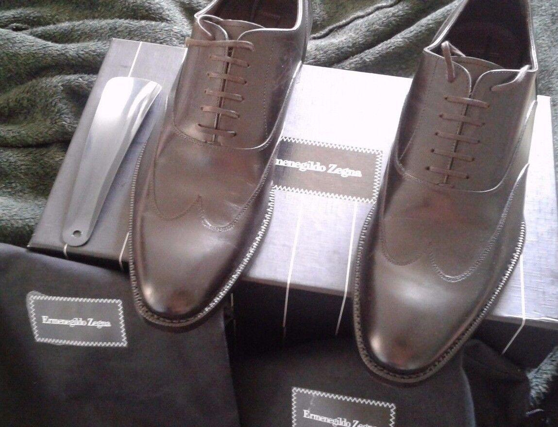 Scarpe casual da uomo  $695 Eruomoegildo Zegna brown  Oxfords Shoes Size US 8 EU 7