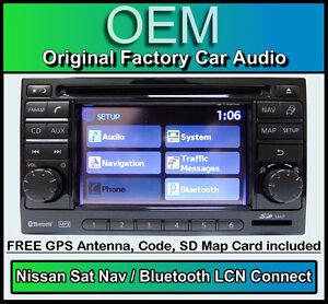 NISSAN-MICRA-GPS-coche-estereo-con-mapa-TARJETA-SD-Lcn-CON-RADIO-LECTOR-DE-CD