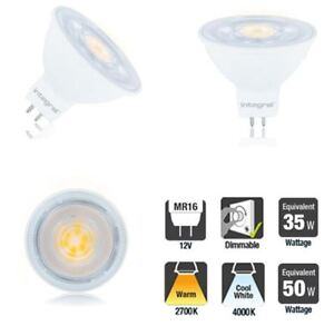 LED-MR16-DIMMABLE-12v-Light-Bulb-2700k-Warm-4000k-Cool-4-6W-8-3W-3-Pack-avail