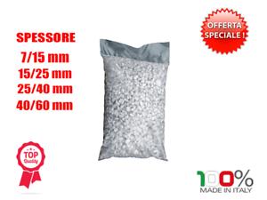 Ciottoli marmo Bianco Carrara 25 kg sassi pietre arredo vasi e giardino VARIE MS