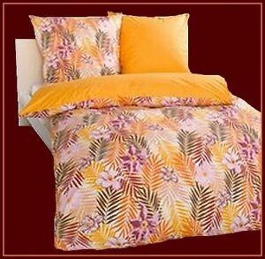 4 tlg bettw sche orange braun weinrot natur kissen 40x80 bezug 135x200 linon ebay. Black Bedroom Furniture Sets. Home Design Ideas