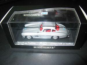 Modèle 50 ans de célébration super rare Mercedes W198 Gullwing - Minichamps 1/43