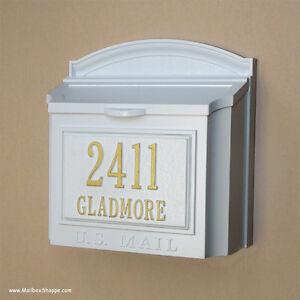 custom wall mount mailbox. Beautiful Mount Image Is Loading WhitehallWallMountMailboxCastAluminumMailBox On Custom Wall Mount Mailbox R