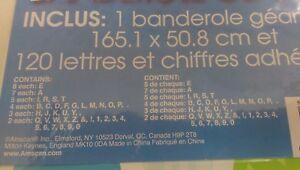 """Giant 65""""x20"""" produrre/creare il proprio banner personalizzato 120 lettere/numeri-Blu"""