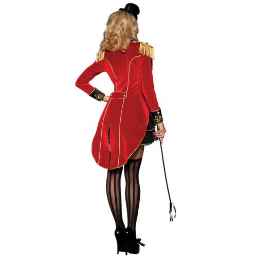 Ringmaster Magician Mistress Circus Lion Tamer Showgirl Fancy Dress Costume