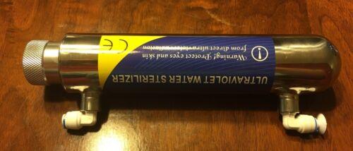 """Ultraviolet UV Eau Stérilisateur 6 W en acier inoxydable Chambre W 1//4/"""" Accessoires"""