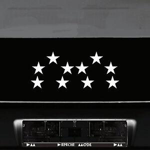10 Klebesterne 8cm silber Sterne Auto Fenster Aufkleber Tattoo die cut decals